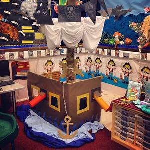 a pirate role play area complete with a mast sail helm With plan you play area for kids wisely