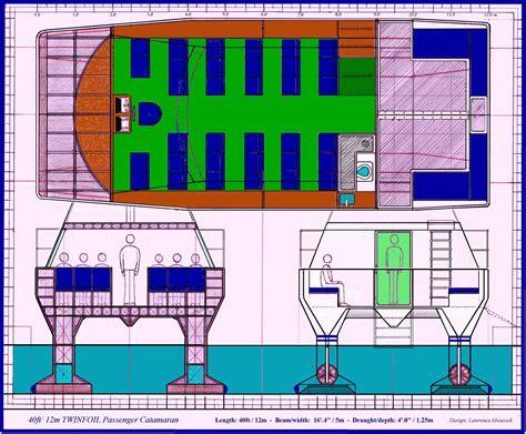 Passenger Catamaran Design by Twinfoil Catamaran Designs