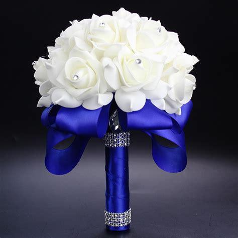 Elegant Royal Blue Purple Red Fuchsia Rose Artificial