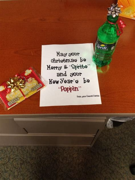 cute idea for a neighbor teacher secret santa gift idea