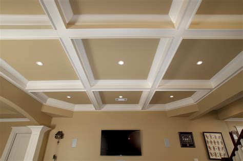coffered ceiling   hometheater