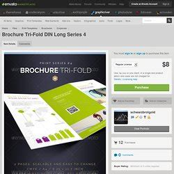 Graphicriver Brochure Tri Fold A4 Series 1 Templates Indesign Ressources Infographique Pearltrees