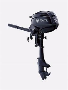 Tohatsu Motor Mfs3 5bl  3 5 Hp  20 In Shaft  Manual Start