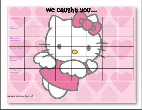hello kitty potty training chart