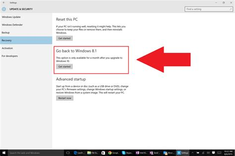 how to go back to windows 7 or 8 after an windows 10 upgrade pcworld
