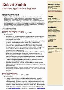Applications Engineer Resume Samples