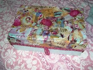 boite 1900 papier colle decopatch photo de bricolage With bricolage peinture sur bois