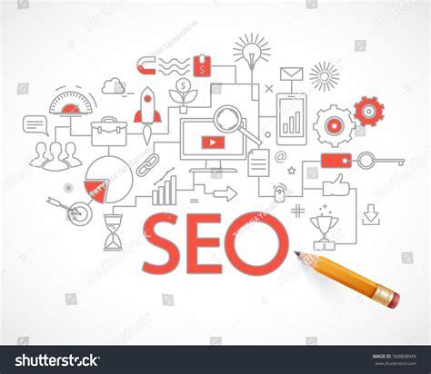 Seo Technology concept seo technology web traffic optimization stock