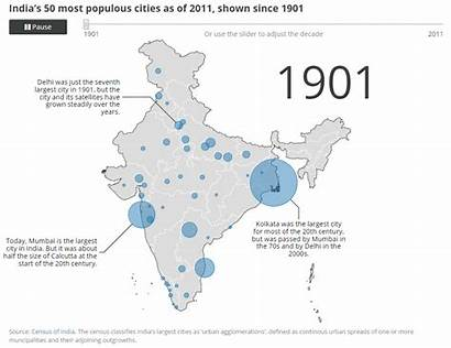 India Cities Populous 1901 Population Map Delhi
