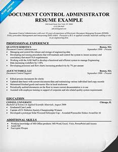 document control administrator resume help With documents control resume