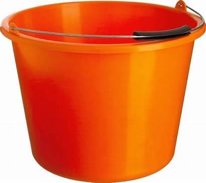 Bucket Orange Clipart Transparent Objects Background Plastic