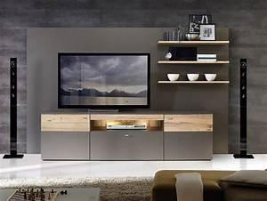 Möbel As Wohnwand : clara wohnwand wolfram grau planked eiche ~ Watch28wear.com Haus und Dekorationen