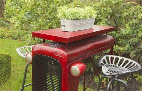 Esschert Design Chaise Tracteur Grise (ih022