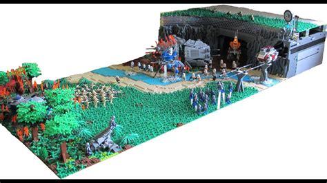 huge lego star wars clone base  mandalore youtube