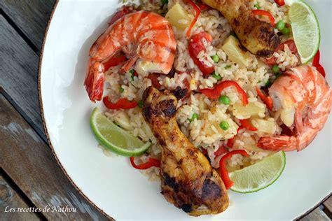 recette de cuisine creole paella à la créole facile recette sur cuisine actuelle
