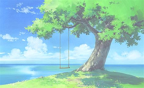 Anime Tree Wallpaper - image in anime illustration collection by m yano