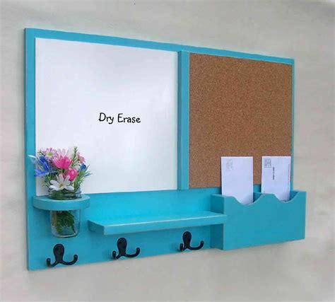 kitchen whiteboard organizer mail organizer message center cork board white by legacystudio 3481
