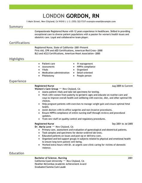 Nursing Skills For Resume by Registered Resume Sle Receta Nurses Nursing