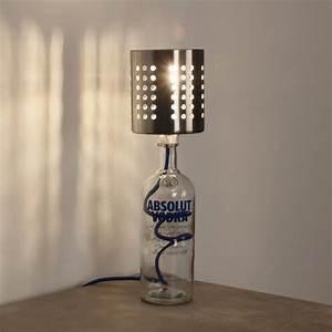 Flaschen Lampe Selber Bauen Flaschenlampe Textilkabel Selber Bauen