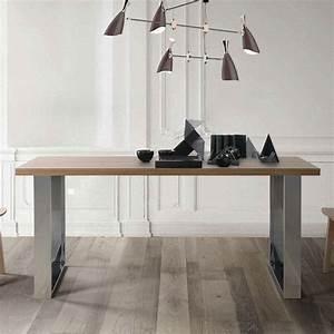 Table Plateau Bois : table plateau bois pieds m tal brin d 39 ouest ~ Teatrodelosmanantiales.com Idées de Décoration