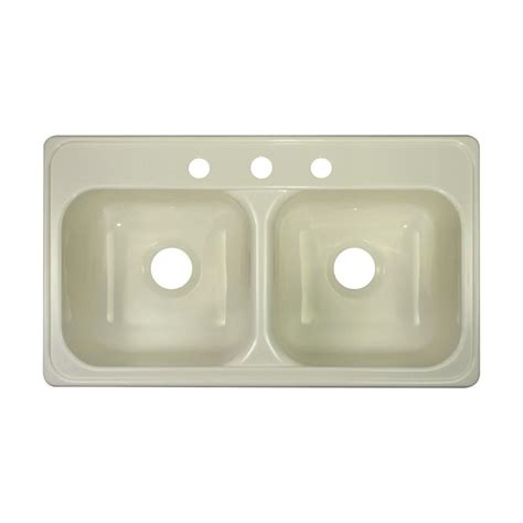 19 x 33 drop in kitchen sink shop lyons style j 19 in x 33 in biscuit basin
