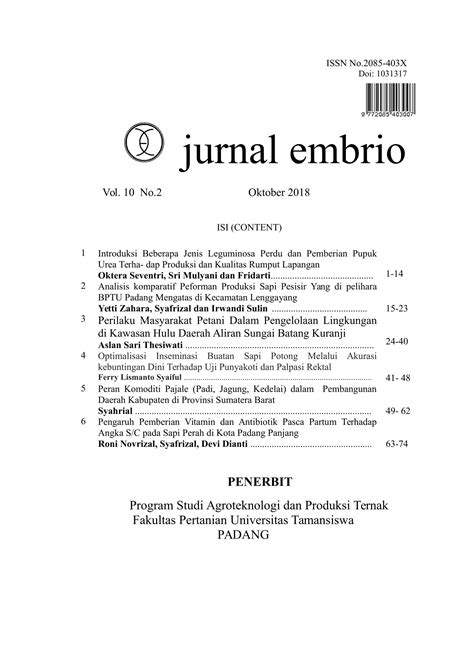 Jurnal Embrio