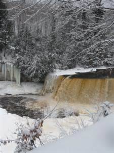 Tahquamenon Falls Michigan Winter