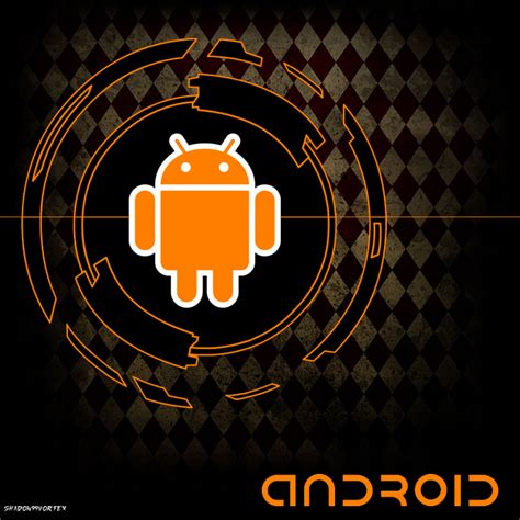 Android Black And Orange Wallpaper by Orange Android And Black And Orange Background By