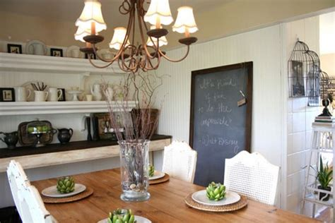 Chalkboard Accents In Dining Room Spaces Interior