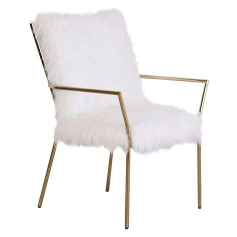 alexis gold fur chair  home