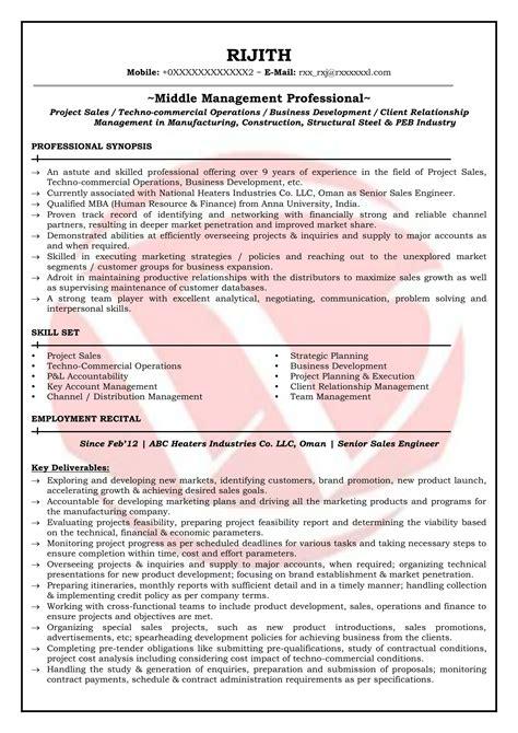 Resume Writing Sles by Sales Engineer Sle Resumes Resume Format