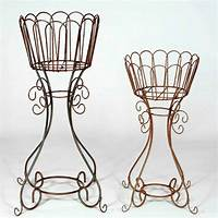 """wrought iron plant stands 34"""" Wrought Iron Deep Basket Plant Stand - Metal Flower ..."""