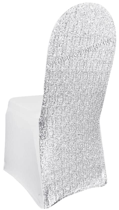platinum sequin spandex chair covers wholesale