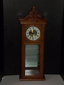 vintage d a curio cabinet wall clock with chimes and With kitchen cabinets lowes with clocks wall art