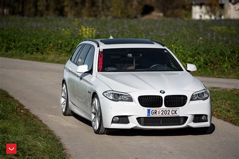 Bmw 5 Series Touring Modification by Bmw 5 Series Touring Rides On Vossen Wheels Bmw Car Tuning