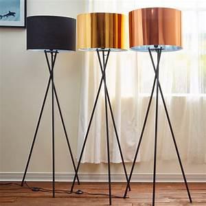Cara, Tripod, Standard, Floor, Lamp, Black, Shade