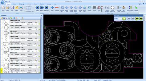 fastcam software cnc cad cam plate shape nesting