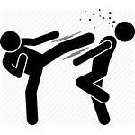 Kick Icon Karate Taekwondo Kicking Martial Arts