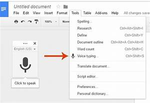 How to dictate blog posts with google docs blogging bistro for Google docs voice dictation