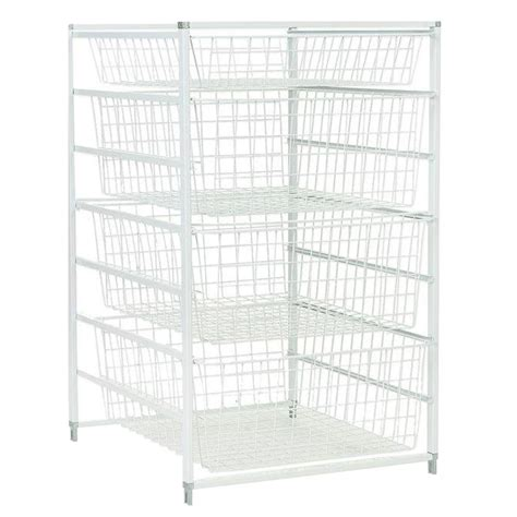Closetmaid Storage Baskets - closetmaid 18 in x 30 in drawer kit with 4 wire basket