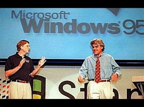 Microsoft's Bill Gates on stage with Jay Leno at the ...