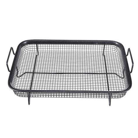 air fryer mesh basket oven tray grill pan 2pcs baking stick tool non alexnld