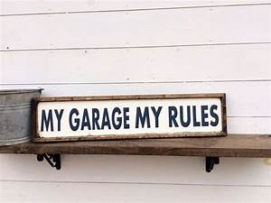 best 25 garage signs ideas on pinterest man cave ideas With kitchen colors with white cabinets with pac man stickers vintage