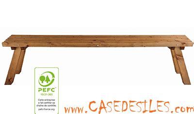 banc de jardin en bois 200cm karel 823 pas cher