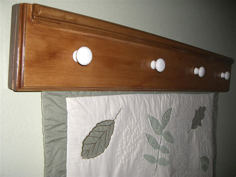 wall mounted quilt rack wall hanging quilt rack 36inches pine wood stained in walnut