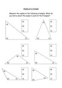 Measuring Triangle Angles Worksheets