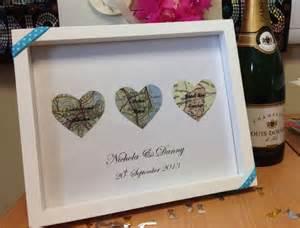 handmade wedding gift church reception honeymoon maps laid with destination names on - Handmade Wedding Gifts