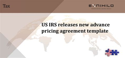 irs releases  advance pricing agreement template