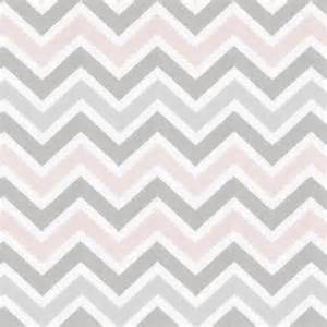 light pink grey white chevron fabric remnant 14 x