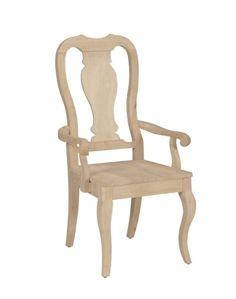 Unfinished Queen Anne Arm Chair (Built) (WWC910AB